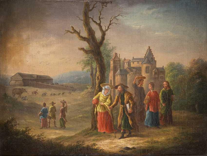 DEUTSCHER MEISTER Tätig, 2. Hälfte 18. Jahrhundert EINZUG IN DIE ARCHE NOAH - photo 1