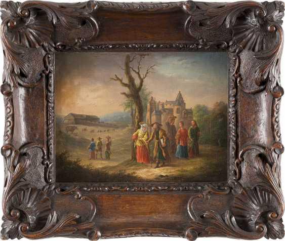DEUTSCHER MEISTER Tätig, 2. Hälfte 18. Jahrhundert EINZUG IN DIE ARCHE NOAH - photo 2