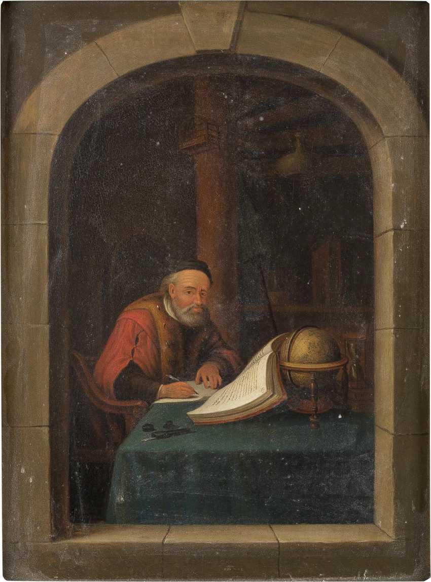 GERRIT DOU (NACHFOLGER) Leiden 1612 - 1675 DER PHILOSOPH - photo 1