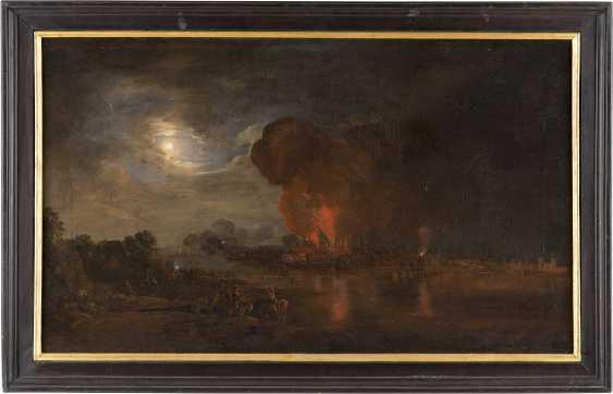CHRISTIAN GEORG II SCHÜTZ (ATTR.) 1758 Flörsheim a.M. - 1823 Frankfurt a.M. DER BRAND DER MAINZER INNENSTADT UND DES MAINZER DOMS VOM 28. UND 29. JUNI 1793 - photo 2