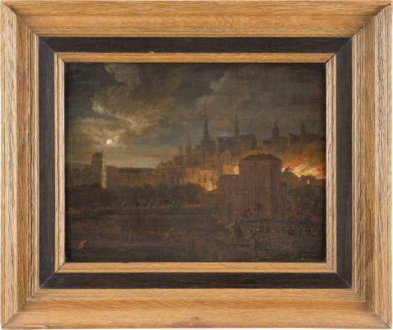 JOHANN GEORG TRAUTMANN (ATTR.) 1713 Zweibrücken - 1769 Frankfurt (Main) NÄCHTLICHE FEUERSBRUNST IN EINER STADT - Foto 2