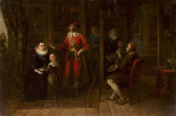 FRANZÖSISCHER MEISTER Um 1800 PORTRAIT EINER ADELIGEN FAMILIE - photo 1