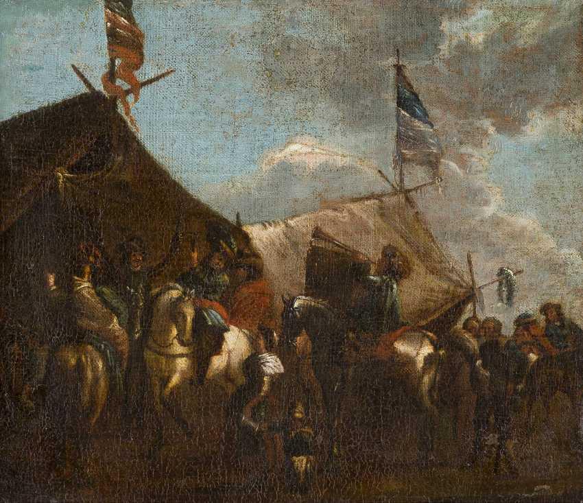 PHILIPS WOUWERMANS (NACHFOLGER) 1619 Haarlem - 1668 Ebenda REITER VOR DEM MARKETENDERZELT - photo 1