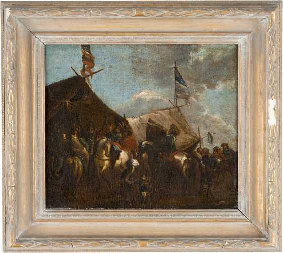 PHILIPS WOUWERMANS (NACHFOLGER) 1619 Haarlem - 1668 Ebenda REITER VOR DEM MARKETENDERZELT - photo 2