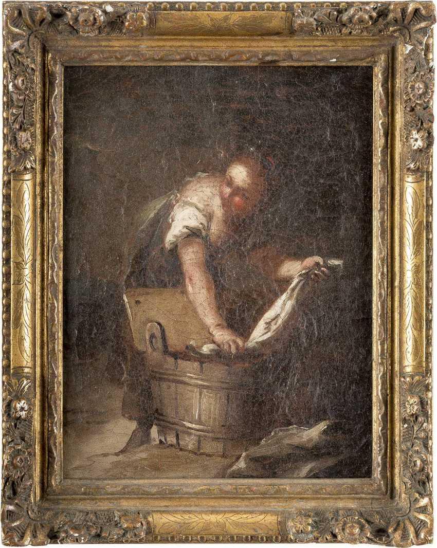 ITALIENISCHER MEISTER Tätig 1. Hälfte 18. Jahrhundert WÄSCHERIN - photo 2