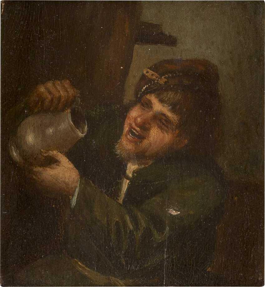 ADRIAEN VAN OSTADE (NACH) 1610 Haarlem - 1685 Ebenda ALLEGORIE AUF DIE TRINKSUCHT - photo 1