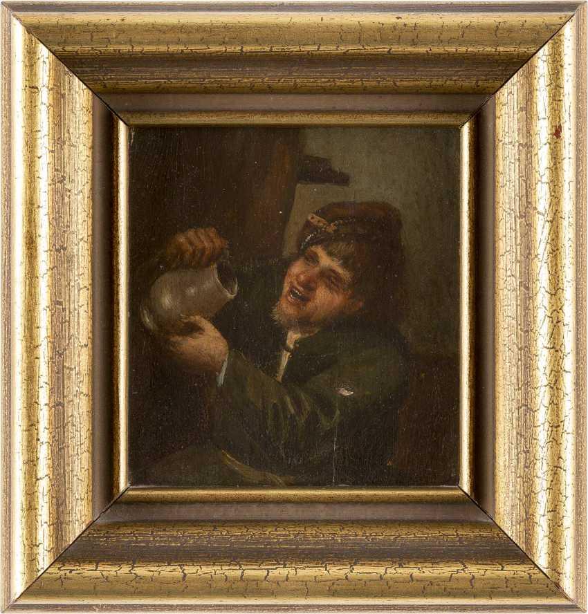 ADRIAEN VAN OSTADE (NACH) 1610 Haarlem - 1685 Ebenda ALLEGORIE AUF DIE TRINKSUCHT - photo 2