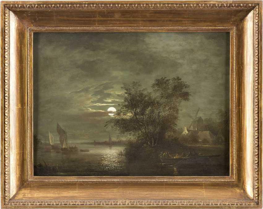 AERT VAN DER NEER (NACHFOLGE) 1603 Amsterdam - 1677 Ebenda AUSFAHRENDE FISCHER BEI VOLLMOND - photo 2