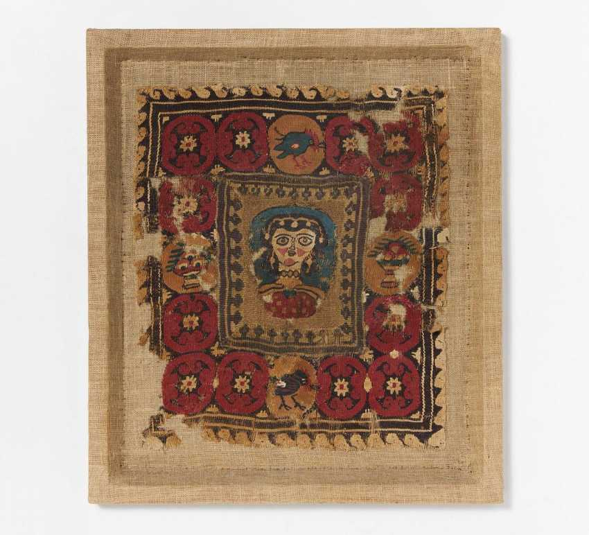 Fragment of a Coptic embroidery - photo 1
