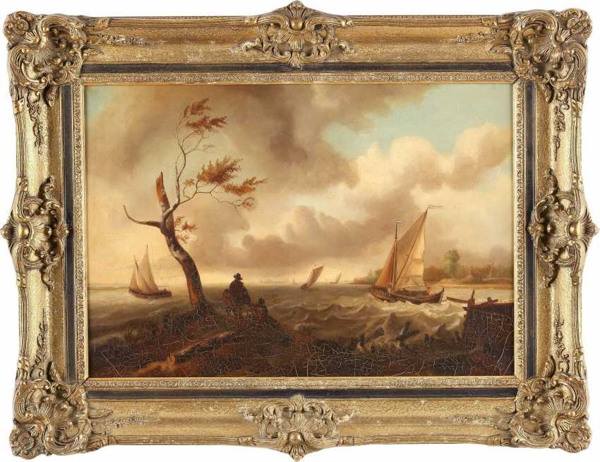 T. W. GORZKE Tätig, um 1900 'DER STURM', NACH LUDOLF BACKHUYSEN (1631-1708) - photo 2