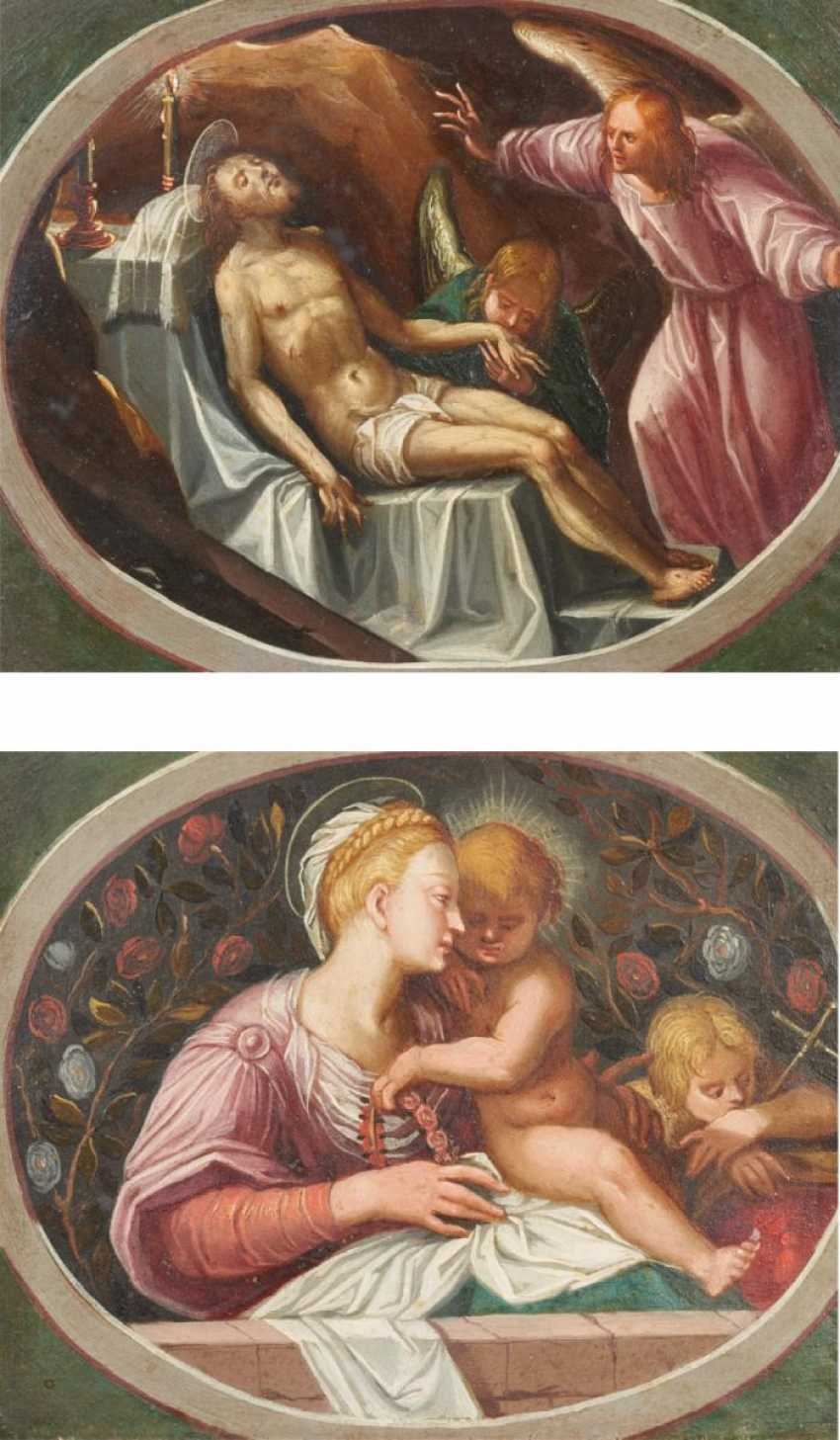 Two paintings: Madonna and Child and the Infant St. John. / Lamentation of Christ - photo 1