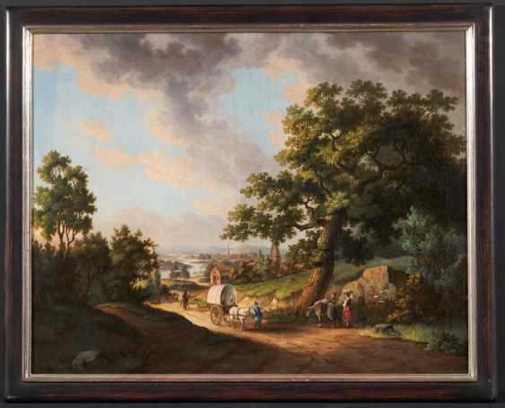 Wide landscape with wagons - photo 2