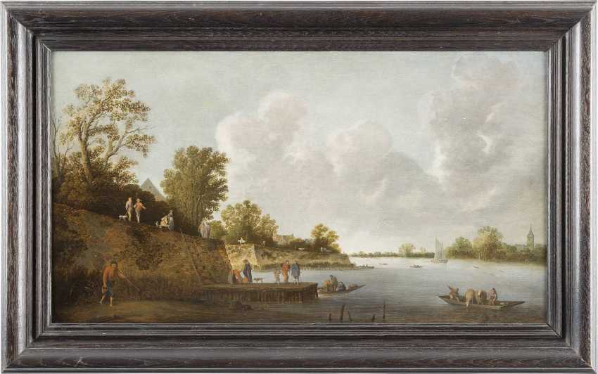 PIETER DE BLOOT C. 1601 Rotterdamm - 1658 Ebenda FLUSSLANDSCHAFT MIT ANGLERN - photo 2