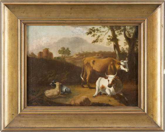 JOHANN HEINRICH ROOS (SCHULE) 1631 Otterberg (Kaiserslautern) - 1685 Frankfurt (Main) VIEH VOR EINER RUINENLANDSCHAFT - photo 2