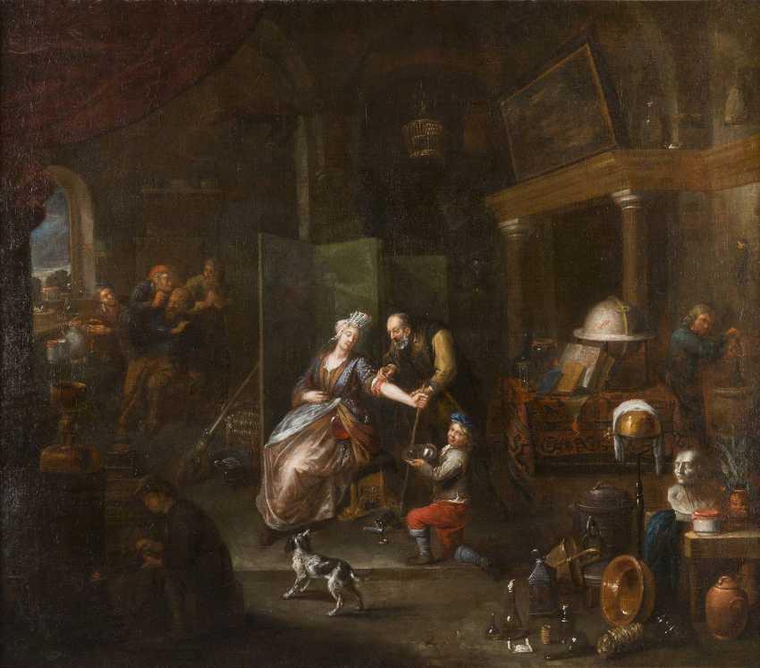 GERARD THOMAS (ATTR.) 1663 Antwerpen - 1720 Ebenda DER ADERLASS - photo 1