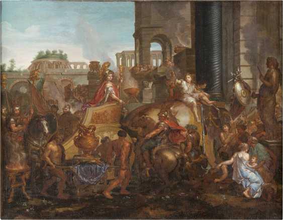 CHARLES LE BRUN (SCHULE) 1619 Paris - 1690 Ebenda EINZUG ALEXANDERS IN BABYLON - photo 1