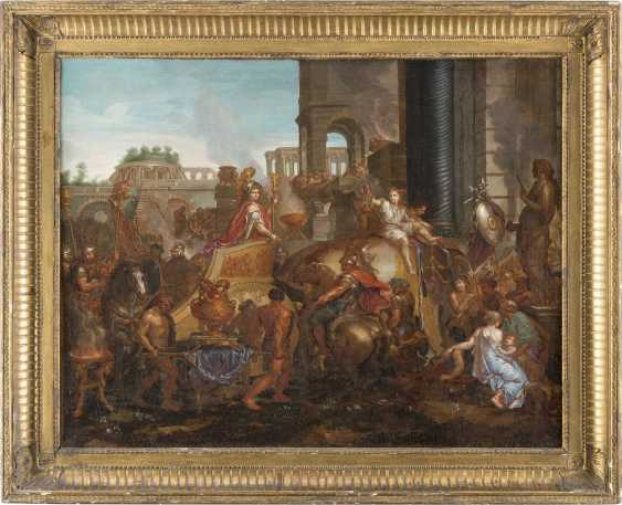 CHARLES LE BRUN (SCHULE) 1619 Paris - 1690 Ebenda EINZUG ALEXANDERS IN BABYLON - photo 2