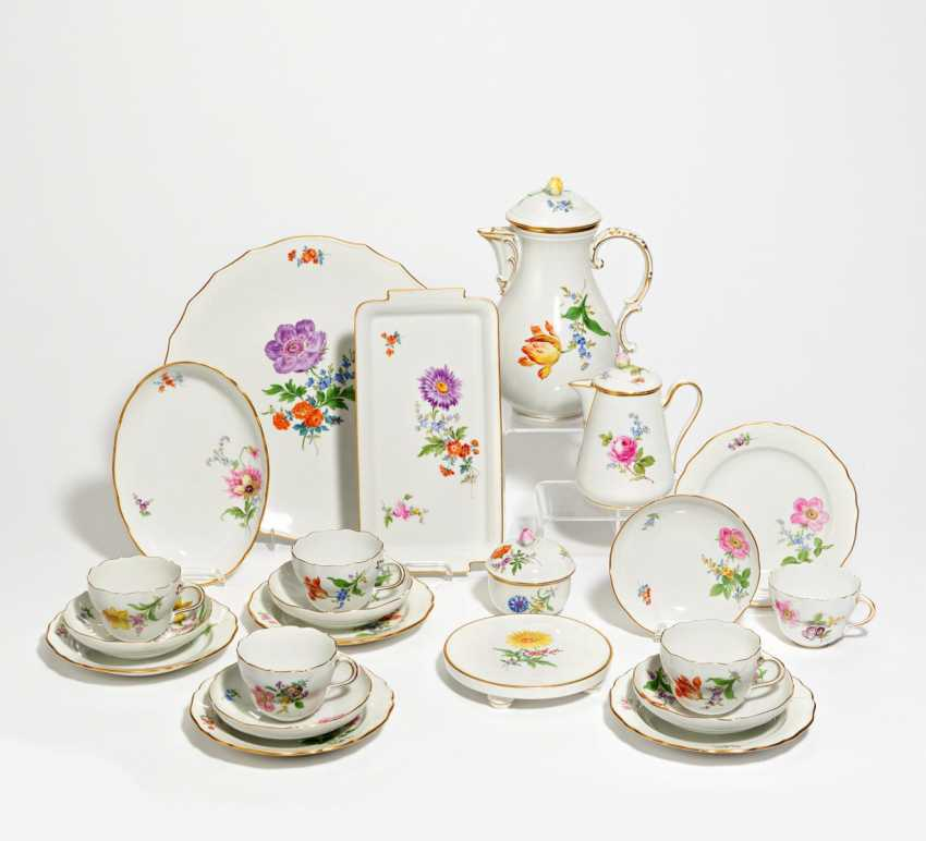 Coffee service with floral decoration for 10 people - photo 1