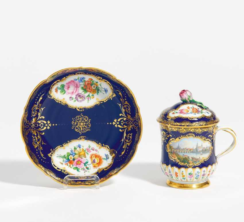 Lidded cup with Dresden view - photo 1