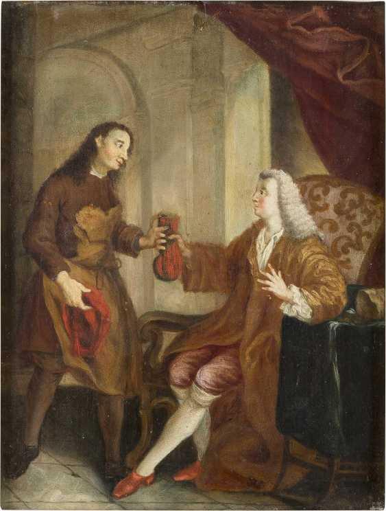 DEUTSCHER MEISTER Tätig im 18. Jahrhundert EIN ADLIGER ENTLOHNT DEN HANDWERKER - фото 1
