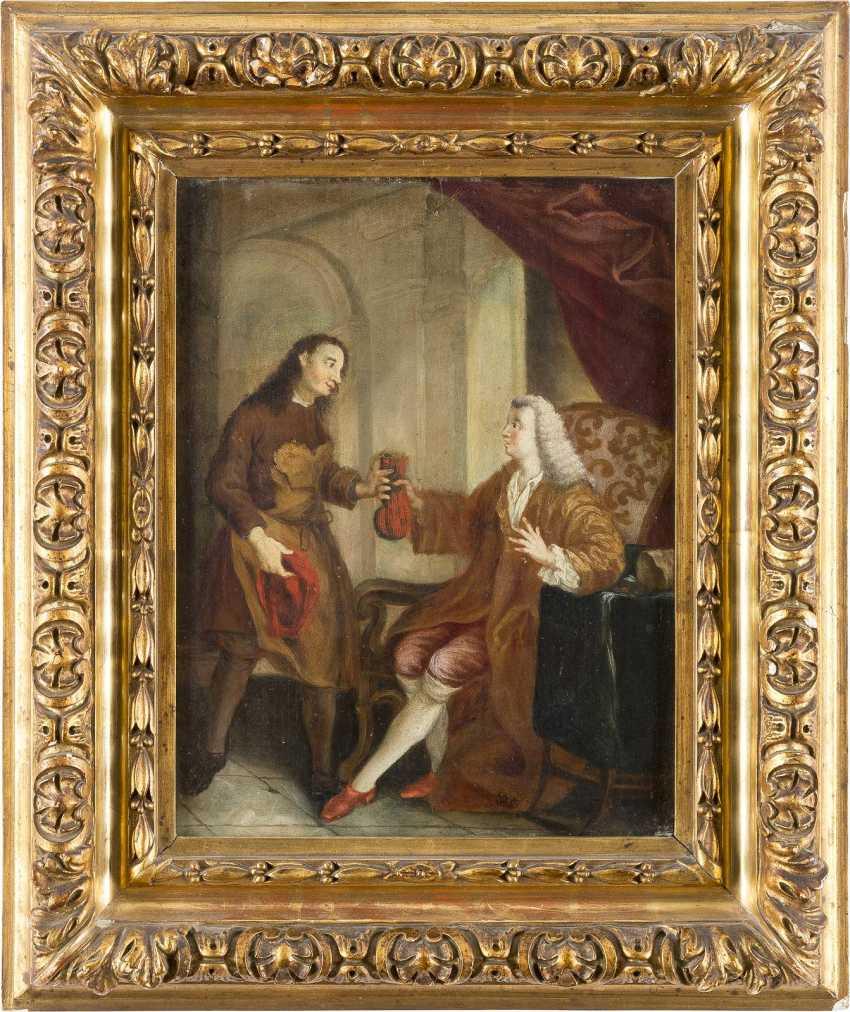 DEUTSCHER MEISTER Tätig im 18. Jahrhundert EIN ADLIGER ENTLOHNT DEN HANDWERKER - фото 2