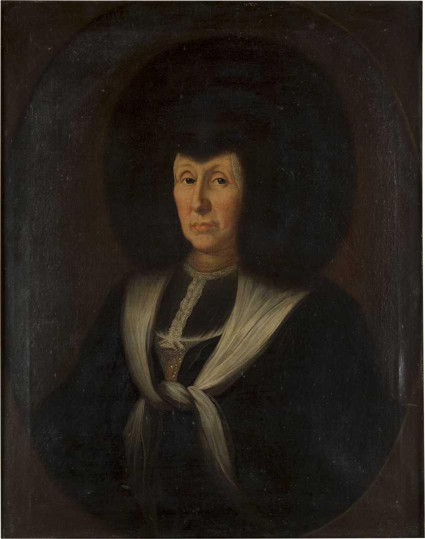 SCHWEIZER PORTRAITMALER Tätig Mitte 18. Jahrhundert BILDNIS EINER DAME IN TRADITIONELLER SCHWEIZER TRACHT FÜR EHRENANLÄSSE - photo 1