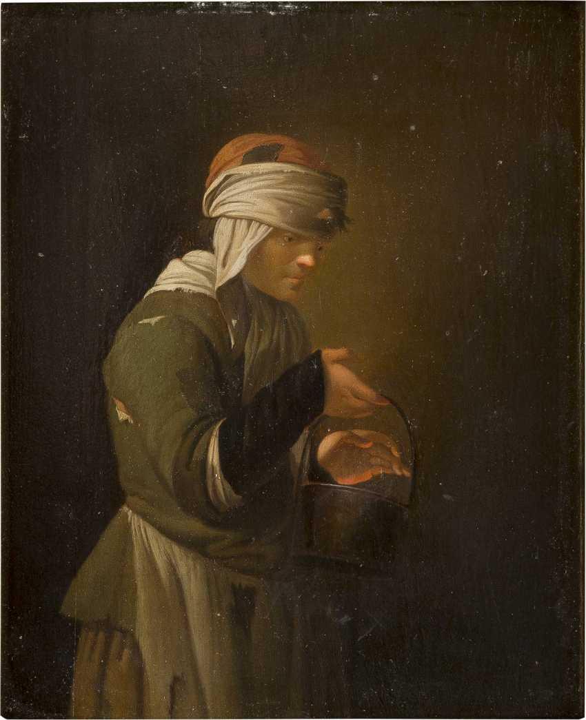 NIEDERLÄNDISCHER MONOGRAMMIST 'IK' Tätig, um 1700/1750 DIE WÄRMENDE GLUT - photo 1
