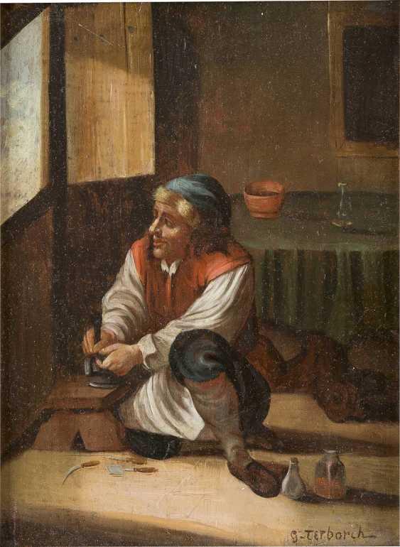 GERARD TER BORCH DER JÜNGERE (NACHFOLGER DES FRÜHEN 20. JH.) Um 1617 Zwolle - 1681 Denventer SCHUHMACHER - photo 1
