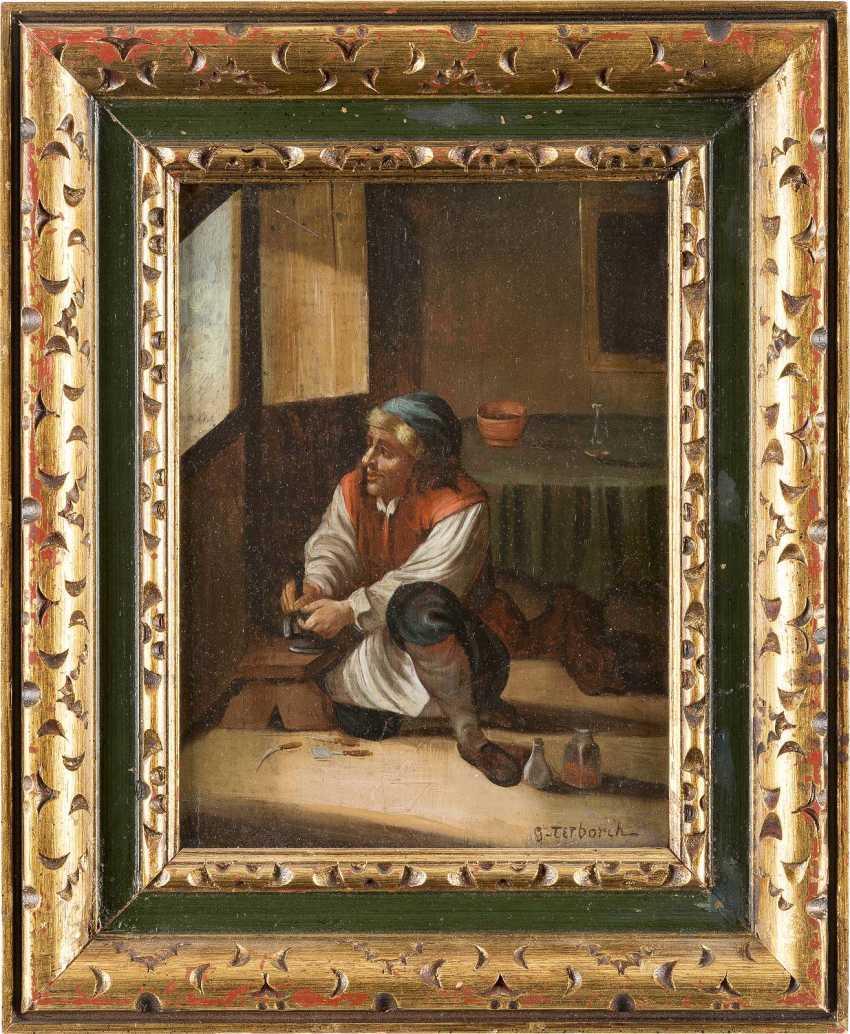 GERARD TER BORCH DER JÜNGERE (NACHFOLGER DES FRÜHEN 20. JH.) Um 1617 Zwolle - 1681 Denventer SCHUHMACHER - photo 2