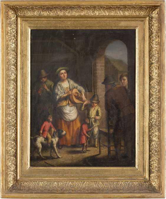 JOHANN JACOB METTENLEITER 1750 Großkuchen - 1825 St. Petersburg GAUKLERFAMILIE MIT ÄFFCHEN, WELCHES AUF EINEM HUND REITET - photo 2