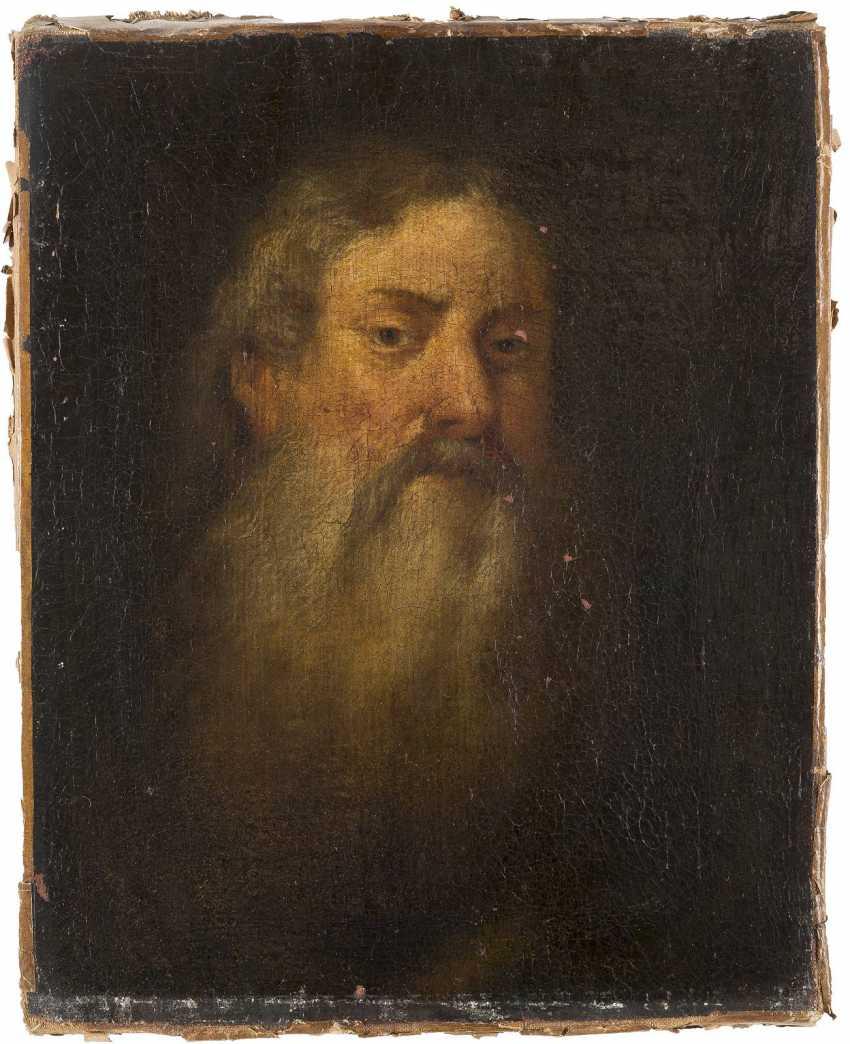 SÜDDEUTSCHER MEISTER Tätig Mitte 17. Jahrhundert BILDNIS EINES BÄRTIGEN MANNES - photo 1