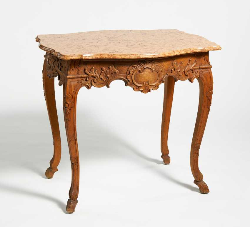 Table with marble top - photo 1