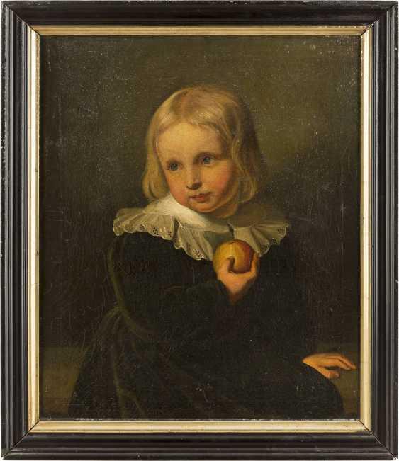 FRANZÖSISCHE SCHULE Meister, tätig wohl 2. Hälfte 18. Jahrhundert BILDNIS EINES JUNGEN MIT APFEL - photo 2