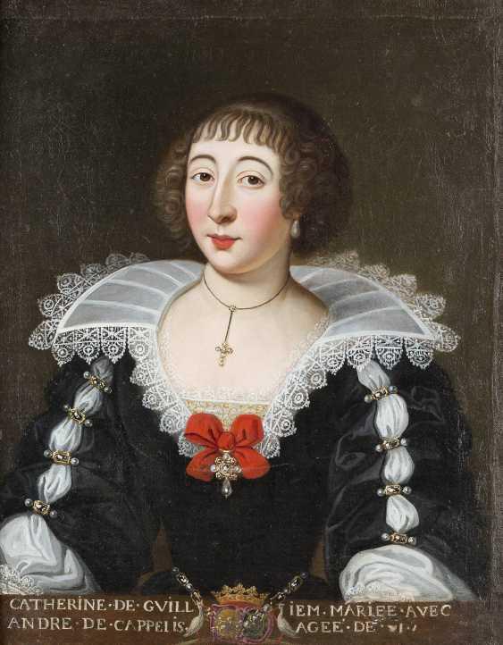 FRANZÖSISCHER MEISTER Tätig, um 1700 PORTRAIT DER CATHERINE DE CAPELLIS - photo 1