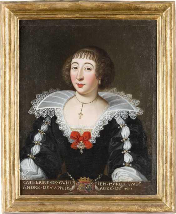 FRANZÖSISCHER MEISTER Tätig, um 1700 PORTRAIT DER CATHERINE DE CAPELLIS - photo 2