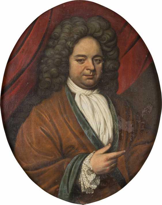 WDE HAAS Tätig, um 1715 ZWEI PORTRAITS ADLIGER EHELEUTE - photo 1
