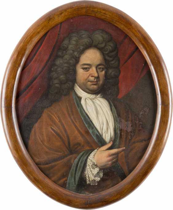 WDE HAAS Tätig, um 1715 ZWEI PORTRAITS ADLIGER EHELEUTE - photo 2