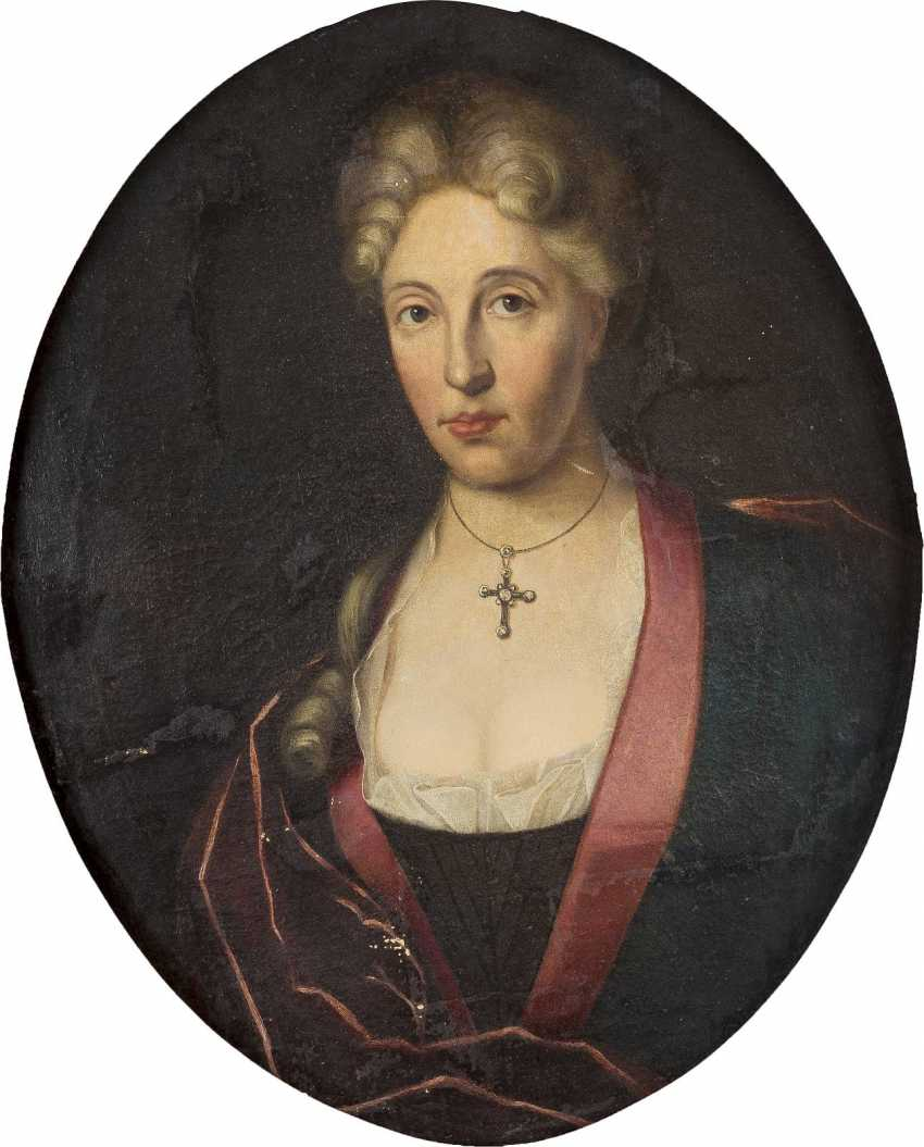 WDE HAAS Tätig, um 1715 ZWEI PORTRAITS ADLIGER EHELEUTE - photo 3