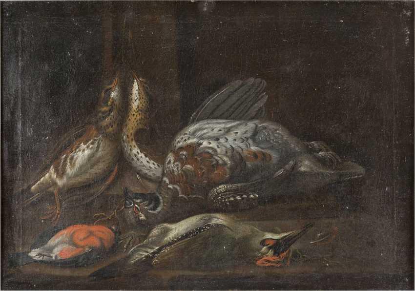 ITALIENISCH-SPANISCHE SCHULE Meister, tätig 17. Jahrhundert STILLLEBEN MIT FEDERVIEH - photo 1