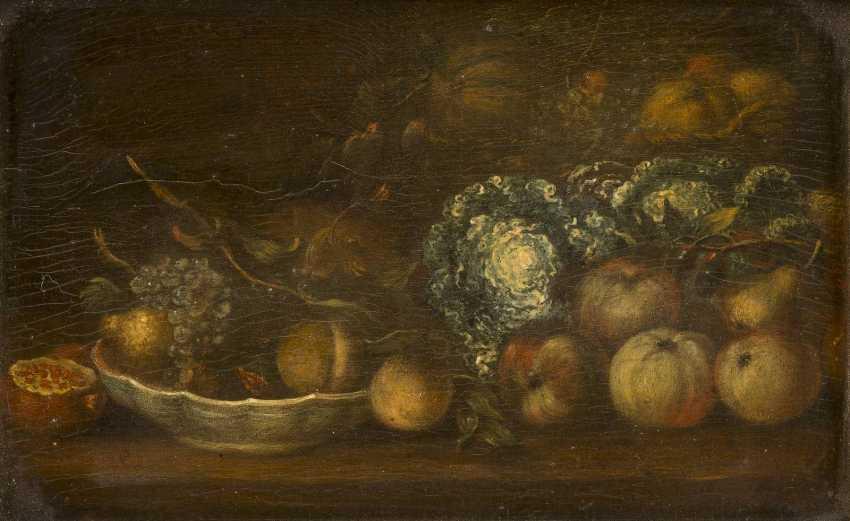 NIEDERLÄNDISCHER MEISTER Tätig im 18. Jahrhundert STILLLEBEN MIT FRÜCHTEN UND GEMÜSE - photo 1