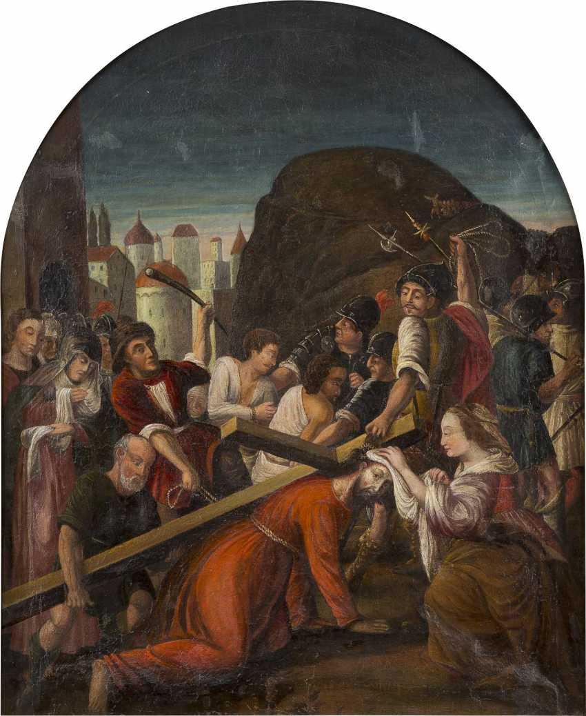 DEUTSCHER MEISTER Tätig, um 1700 VERONIKA REICHT JESUS DAS SCHWEISSTUCH - photo 1