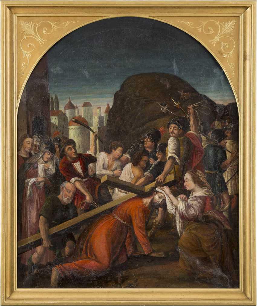 DEUTSCHER MEISTER Tätig, um 1700 VERONIKA REICHT JESUS DAS SCHWEISSTUCH - photo 2