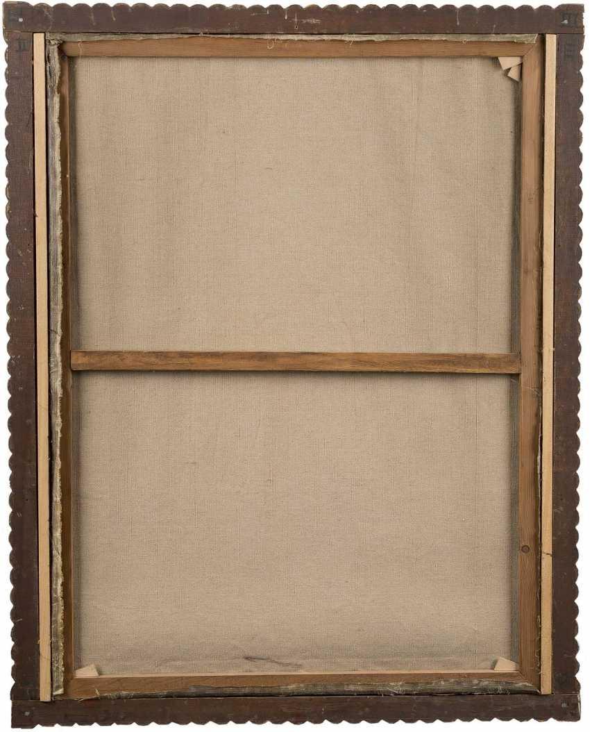 SÜDAMERIKANISCHER/ SPANISCHER MALER Tätig im 18./19. Jahrhundert ANDACHTSBILD MADONNA UND DER HEILIGEN ELISABETH - photo 3