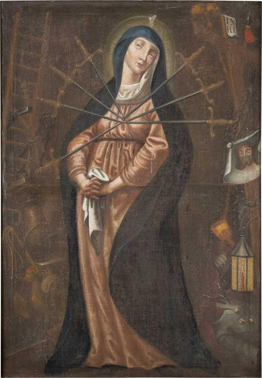 DEUTSCHER MEISTER Tätig Ende 17. Jahrhundert MARIA DER SIEBEN SCHMERZEN - photo 1