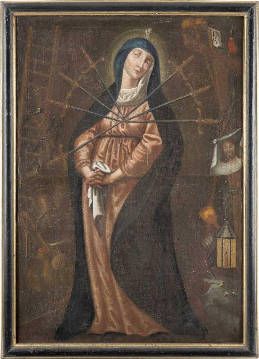 DEUTSCHER MEISTER Tätig Ende 17. Jahrhundert MARIA DER SIEBEN SCHMERZEN - photo 2
