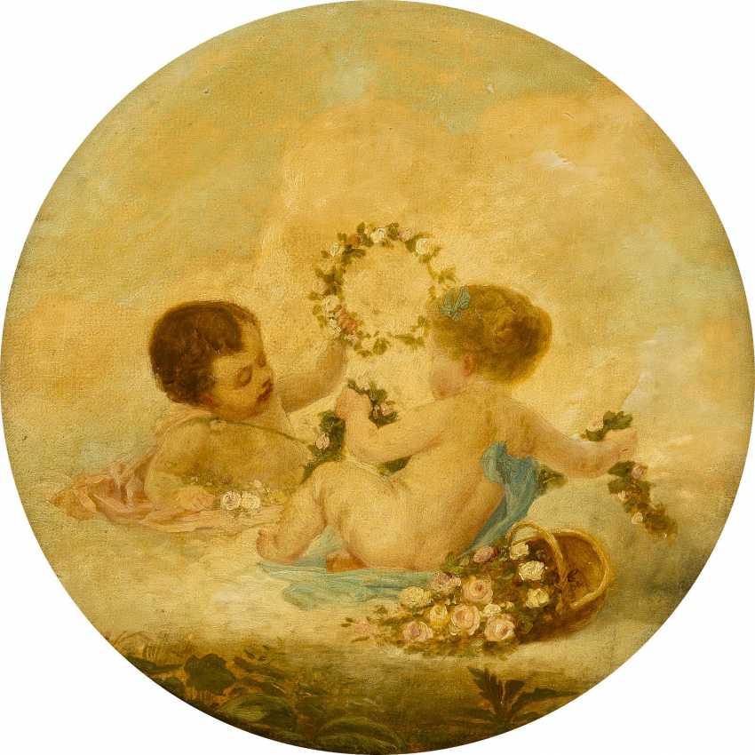 FRANCOIS BOUCHER (UMKREIS) 1703 Paris - 1770 Ebenda SPIELENDE EROTEN - photo 1