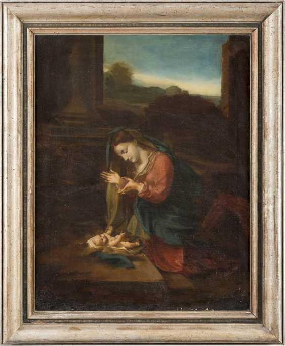 ANTONIO DA CORREGGIO (NACHFOLGER DES 18./19. JH.) 1489 Correggio - 1534 ebenda ANBETUNG DES KINDES - photo 2