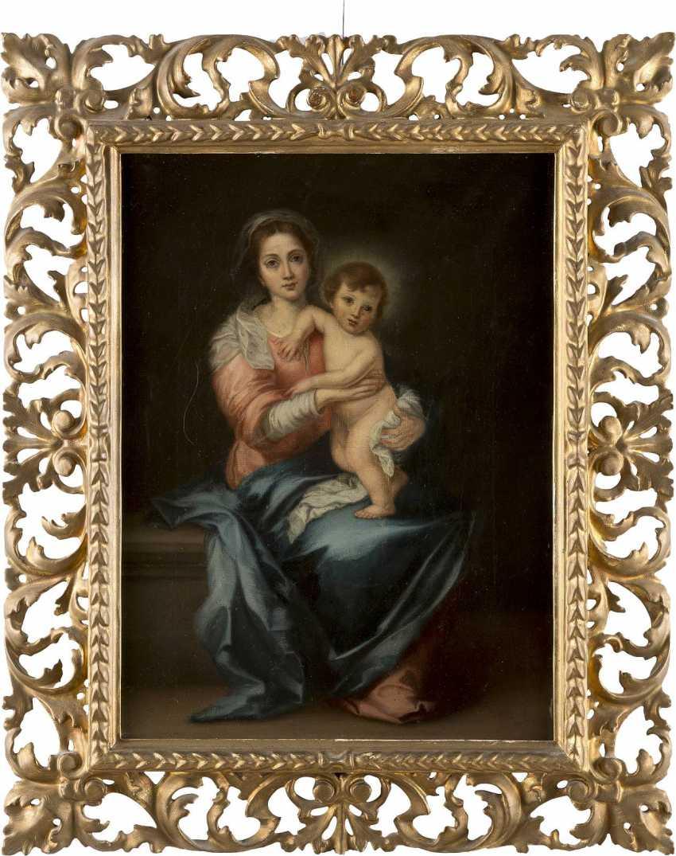 BARTOLOMEO ESTEBAN MURILLO (NACHFOLGER) 1618 Sevilla - 1682 Ebenda MARIA MIT DEM CHRISTUSKNABEN - photo 2