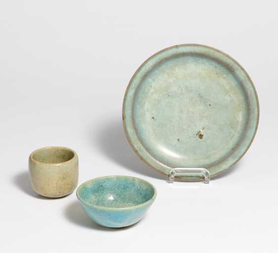 Plate and bowl with Junyao glaze - photo 1