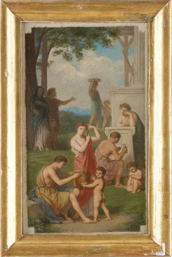 FRANZÖSISCHER MEISTER Tätig um 1900 Zwei klassizistische Kompositionen: Müßiggang in antiken Parklandschaften - photo 4
